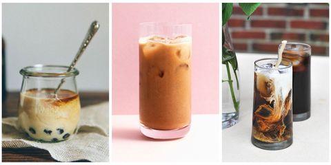 Iced coffee, Drink, Floats, Food, Frappé coffee, Coffee, Vietnamese iced coffee, Batida, Milkshake, Ingredient,