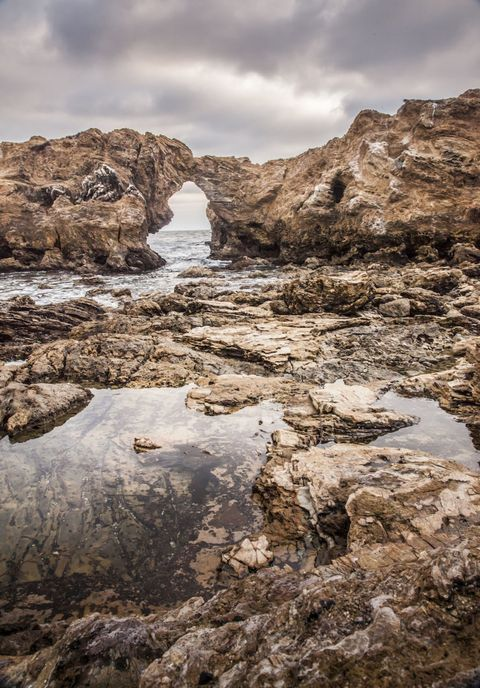 Rock, Bedrock, Outcrop, Formation, Geology, Arch, Natural arch, Erosion, Tide pool, Fault,