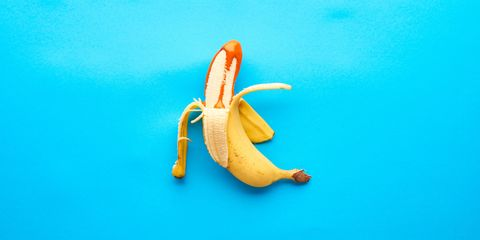 Banana family, Banana, Blue, Peel, Yellow, Orange, Turquoise, Fruit, Plant, Food,