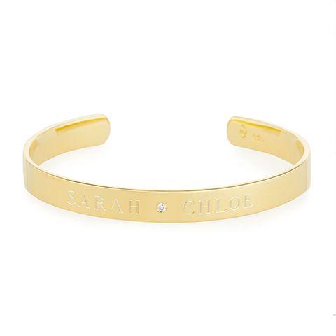 Sarah Chloe Name Cuff Bracelet