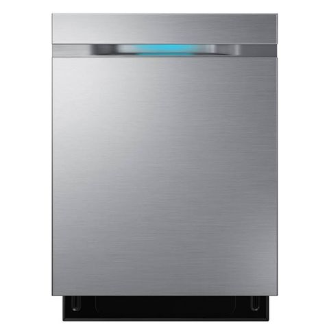 """Samsung - WaterWall 24"""" Tall Tub Built-In Dishwasher - Stainless Steel"""