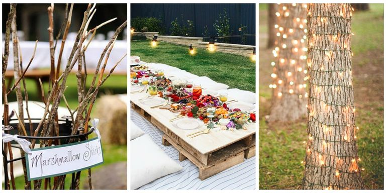 14 best backyard party ideas for adults summer for Outdoor dinner party decorating ideas
