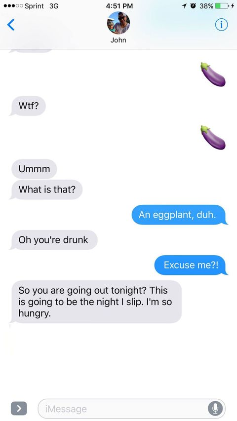 Here's What Happened When 8 Women Texted Their Partners the Eggplant