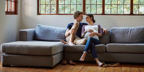 Couch, Furniture, Living room, Sofa bed, Room, Comfort, Wood flooring, Sitting, Flooring, Floor,