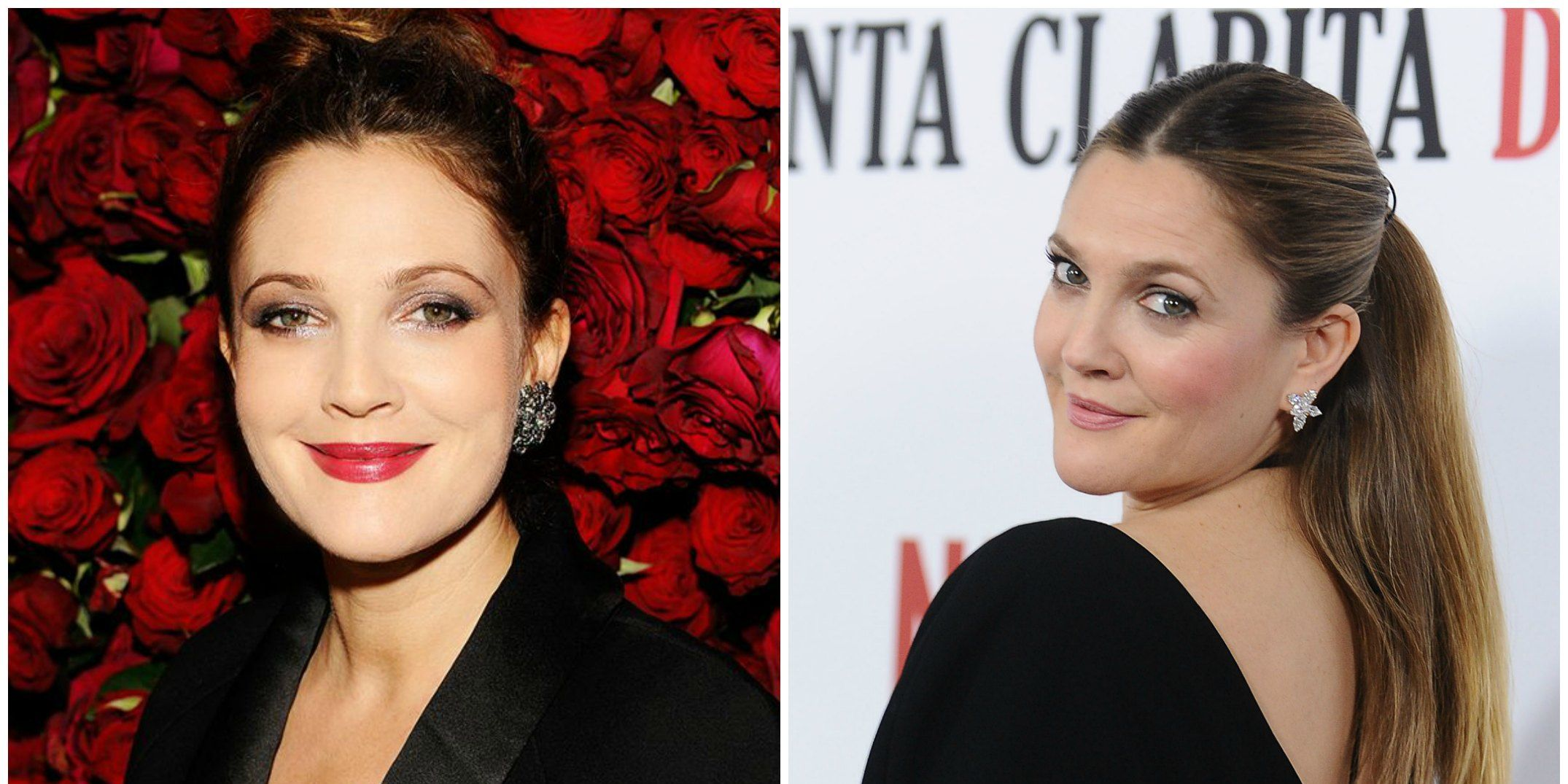 Drew Barrymore Metallic eyes and berry-bright lips were a mainstay in the '90s and early '00s, and Drew rocked them like no other. But the warmer, more neutral tones that the Flower beauty founder wears now are to die for.