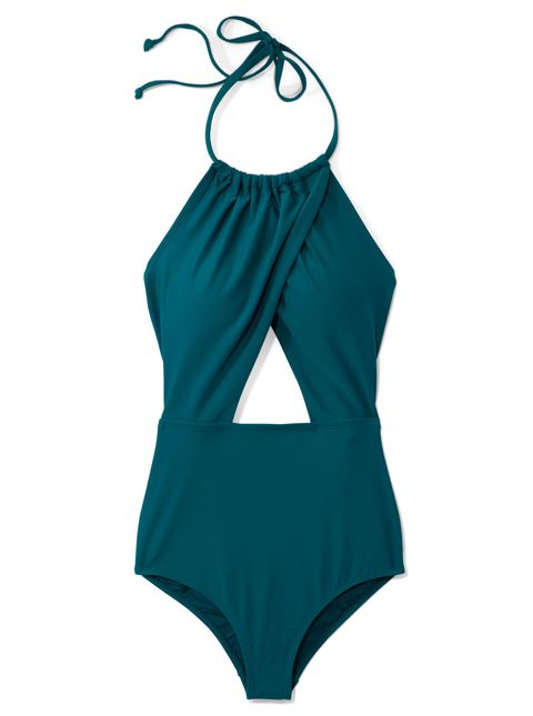 Clothing, One-piece swimsuit, Swimsuit bottom, Monokini, Swimwear, Aqua, Swimsuit top, Turquoise, Maillot, Product,
