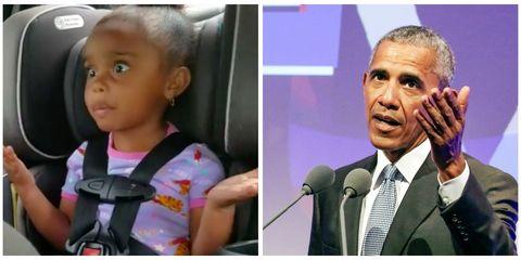 Barack Obama little girl