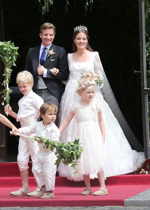 """<p>Wearing a bespoke gown by Luisa Beccaria,&nbsp;the actress married the Bavarian prince<span class=""""redactor-invisible-space"""" data-verified=""""redactor"""" data-redactor-tag=""""span"""" data-redactor-class=""""redactor-invisible-space"""">&nbsp;</span>in a civil ceremony&nbsp;at her father's estate in July 2016.<span class=""""redactor-invisible-space"""" data-verified=""""redactor"""" data-redactor-tag=""""span"""" data-redactor-class=""""redactor-invisible-space""""></span></p>"""