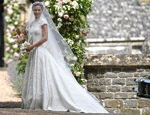 """<p>And the bride <a href=""""http://www.marieclaire.com/fashion/news/a27250/pippa-middleton-wedding-dress/"""" target=""""_blank"""" data-tracking-id=""""recirc-text-link"""">wore high-neck lace Giles Deacon</a> to marry hedge-fund manager James Matthews in front of 300 guests, including some <a href=""""http://www.marieclaire.com/fashion/news/g4696/pippa-middleton-kate-middleton-wedding-photos/"""" target=""""_blank"""" data-tracking-id=""""recirc-text-link"""">very, very important people</a>.&nbsp;&nbsp;</p>"""