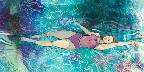 Swimming pool, Swimming, Water, Recreation, Swimwear, Backstroke, Fictional character, Illustration, Leisure,