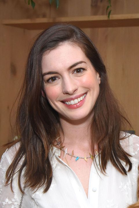 "<p><a href=""http://www.redbookmag.com/life/news/a49018/anne-hathaway-julie-andrews-princess-diaries-3/"" target=""_blank"" data-tracking-id=""recirc-text-link"">Anne Hathaway</a>'s&nbsp;shade&nbsp;is just the right darkness&nbsp;to bring out her brown eyes.&nbsp;</p>"