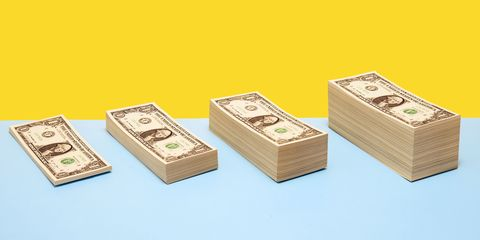 Cash, Money, Currency, Dollar, Banknote, Games, Box, Paper product, Money handling, Saving,
