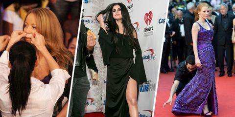 Clothing, Red carpet, Carpet, Dress, Fashion model, Premiere, Little black dress, Fashion, Flooring, Footwear,