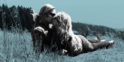 Grass, People in nature, Interaction, Love, Sunglasses, Grassland, Kiss, Romance, Meadow, Blond,