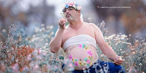 "<p>This father of two adult daughters and his photographer friend decided to try their own version of a maternity shoot. The photos are <a href=""http://www.redbookmag.com/body/news/a49821/francisco-perez-dad-maternity-photo-shoot/"" target=""_blank"" data-tracking-id=""recirc-text-link"">hilarious</a>, and the flower crown is hands down the best part. </p>"