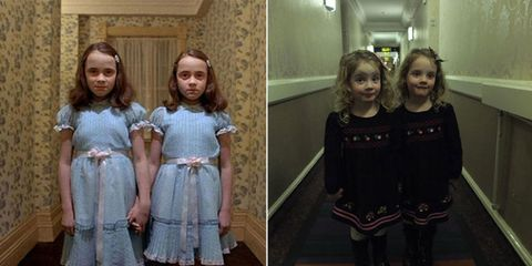 "<p>Martin Hughes found out he was having identical twins and immediately thought of one of the most iconic twin movie scenes in history from <em data-verified=""redactor"" data-redactor-tag=""em"">The Shining — </em>you know the one I'm talking about. So whenever they stay in a hotel, he has them stand in the hallway holding hands to <a href=""http://www.redbookmag.com/life/mom-kids/a49279/shining-twins-prank/"" target=""_blank"" data-tracking-id=""recirc-text-link"">creep people out</a>. Spooky? Adorable? You decide. </p>"