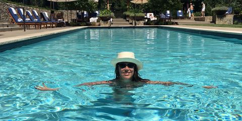 Swimming pool, Fun, Recreation, Leisure, Water, Goggles, Hat, Personal protective equipment, Fluid, Liquid,