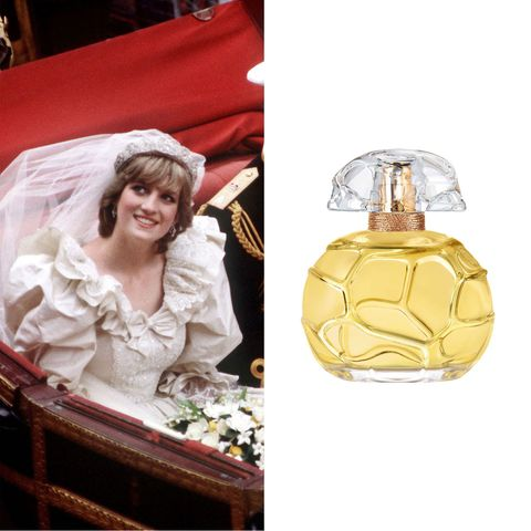"""<p>For her wedding day, Princess Diana <a href=""""http://www.goodhousekeeping.com/beauty/g4218/princess-diana-beauty-tips/?thumbnails&amp;slide=6"""" target=""""_blank"""" data-tracking-id=""""recirc-text-link"""">chose Quelques Fleurs perfume</a>. It retails for&nbsp;$600, but that seems like a small price to pay to smell like Lady&nbsp;Di. ($600;&nbsp;<a href=""""http://shop.nordstrom.com/s/houbigant-paris-quelques-fleurs-loriginal-parfum/3417508?origin=category-personalizedsort"""" target=""""_blank"""" data-tracking-id=""""recirc-text-link"""">nordstrom.com</a>)</p><p><a href=""""http://shop.nordstrom.com/s/houbigant-paris-quelques-fleurs-loriginal-parfum/3417508?origin=category-personalizedsort"""" target=""""_blank"""" class=""""slide-buy--button"""" data-tracking-id=""""recirc-text-link""""><strong data-redactor-tag=""""strong"""" data-verified=""""redactor"""">BUY NOW</strong></a></p><p><strong data-redactor-tag=""""strong"""" data-verified=""""redactor"""">RELATED: </strong><a href=""""http://www.redbookmag.com/fashion/features/g3884/kate-middleton-princess-diana-photos/"""" target=""""_blank"""" data-tracking-id=""""recirc-text-link""""><strong data-redactor-tag=""""strong"""" data-verified=""""redactor"""">34 Times The Duchess of Cambridge Dressed Just Like Princess Diana</strong></a> </p>"""