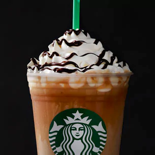 """<p>This blend of <a href=""""https://www.starbucks.com/menu/drinks/frappuccino-blended-beverages/caramel-cocoa-cluster-frappuccino-blended-beverage"""" target=""""_blank"""" data-tracking-id=""""recirc-text-link"""" data-unsp-sanitized=""""clean"""">toffee nut syrup and coffee</a> gets topped with both caramel and mocha drizzles. And while it's sweet, it's packing 90 milligrams of caffeine. </p>"""