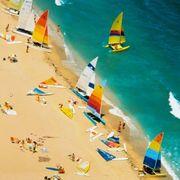 Sky, Art, Azure, Illustration, Summer, Painting, Graphic design, Visual arts, Tourism, Travel,