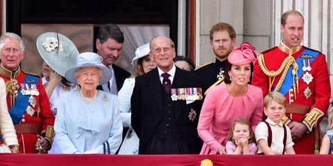 The Royal Family at Trooping the Colour 2017