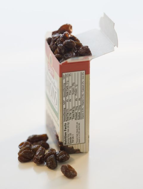<p>A tiny, unassuming box of these guys has 34 grams of carbs.</p>