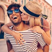 Eyewear, Glasses, Vision care, Hat, Sunglasses, Goggles, Interaction, Fashion accessory, Street fashion, Love,