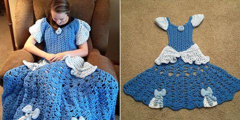 Crochet, Blue, Pattern, Art, Knitting, Dress, Pattern, Craft, Design, Textile,