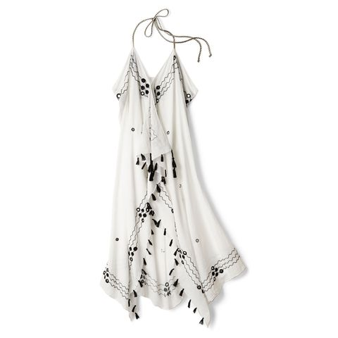 White, Clothing, Shoulder, Dress, Joint, Outerwear, Textile, Fashion accessory, Beige, Cover-up,