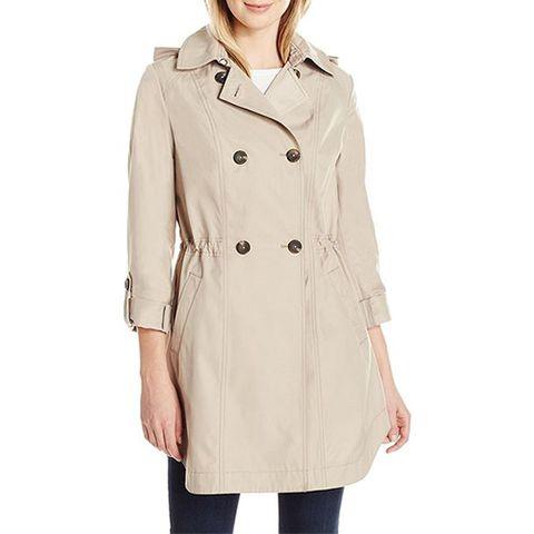 lark and ro beige trench coat