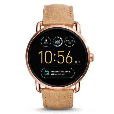 fossil q leather smart watch