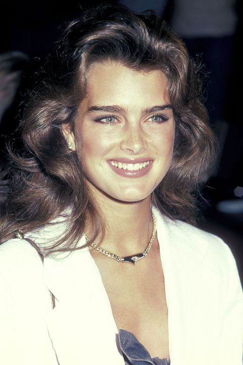 <p>Voluminous hair had a different meaning in the early '80s. Not only do Brooke Shields's waves stretch up high, they also reach out wide. </p>