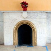 Arch, Architecture, Room, Fireplace, Door, Hearth, Building,