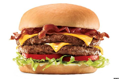 Sonic Bacon Double Cheeseburger