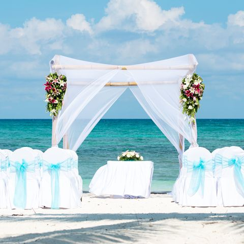 "<p>If you're set on getting married somewhere exotic, select a spot with lots to do right where guests are staying.&nbsp;""Weddings at beach resorts make things a lot easier since guests typically don't leave the resort to venture out,"" says Millie Abadi, a destination wedding and travel planner at&nbsp;<a href=""http://www.travelbyetc.com/"" target=""_blank"" data-tracking-id=""recirc-text-link"">Travel By ETC</a>. ""We love doing weddings in the Caribbean at a beautiful resort for that reason. Offering guests some&nbsp;options for those who don't like sunbathing is a good idea, too —&nbsp;maybe golf,&nbsp;tennis, or something authentic to the destination like a local market.""&nbsp;</p><p><span data-redactor-tag=""span"" data-verified=""redactor""></span><span class=""redactor-invisible-space"" data-verified=""redactor"" data-redactor-tag=""span"" data-redactor-class=""redactor-invisible-space""><strong data-redactor-tag=""strong"" data-verified=""redactor"">RELATED: <a href=""http://www.redbookmag.com/love-sex/a49585/wedding-traditions/"" target=""_blank"" data-tracking-id=""recirc-text-link"">7 Wedding Traditions That Have Virtually Disappeared Over The Last Century</a>&nbsp;</strong></span></p>"