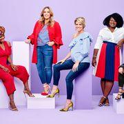 Red, Fashion, Fashion model, Fashion design, Fun, Event, Footwear, Electric blue, Textile, Photo shoot,