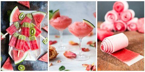 Food, Pink, Watermelon, Fruit, Melon, Citrullus, Recipe, Plant, Cuisine, Cocktail garnish,