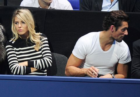<p>At a guess, Mollie and David didn't intentionally book seats next to each other at the ATP tennis finals shortly after their break-up in 2013. A friend ended up sat between them, although the former couple managed to see the funny side. Eventually...</p>