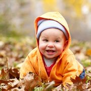 Child, People in nature, Leaf, Toddler, Baby, Autumn, Smile, Happy, Portrait photography, Fun,