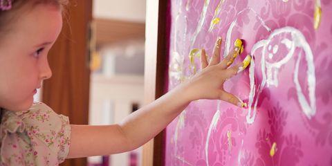 Pink, Hand, Wall, Finger, Magenta, Room, Textile, Interior design, Plant, Nail,