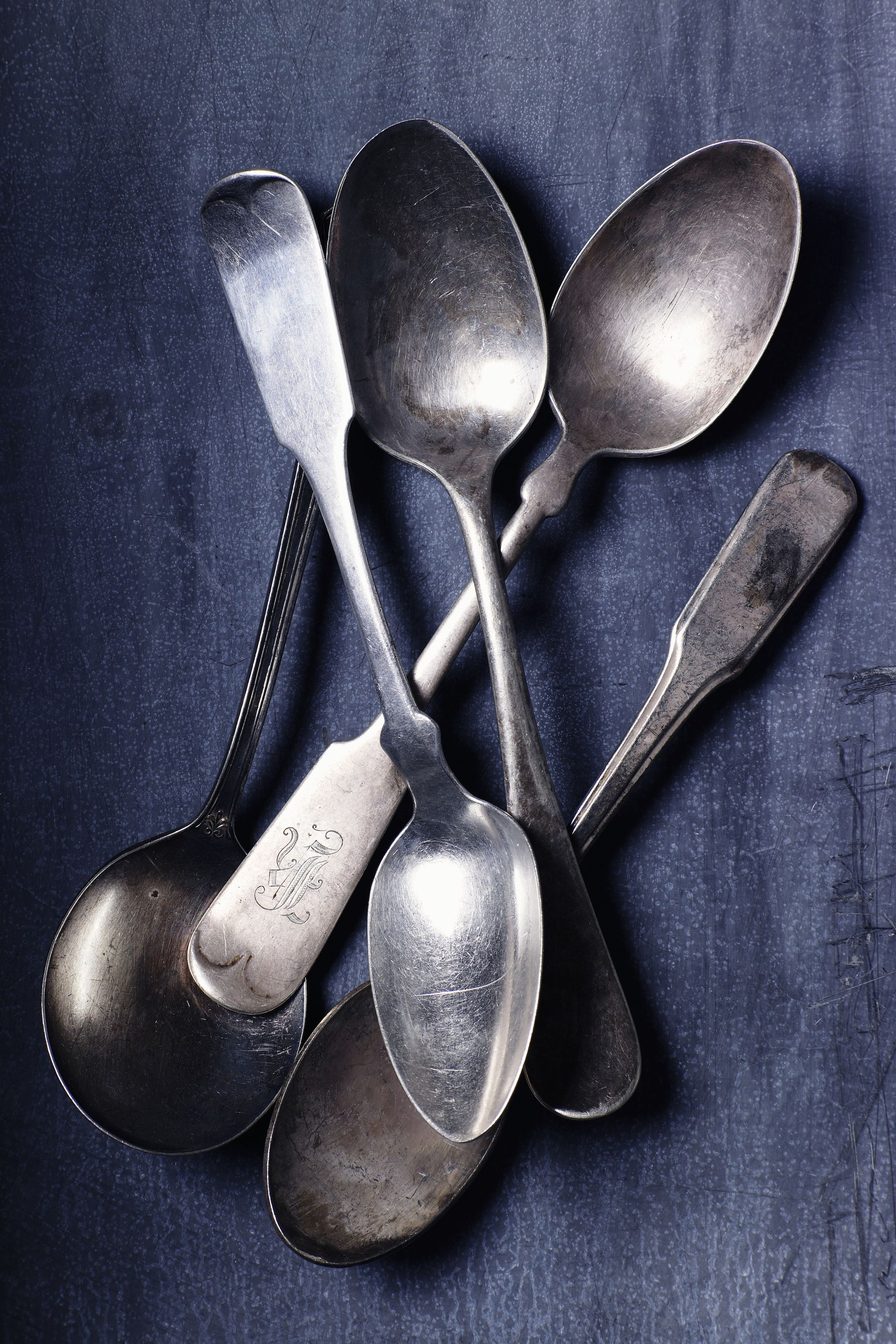 """<p>Keep your eyes peeledfor precious metal hiding in the flatware.<a href=""""http://www.goodhousekeeping.com/home/g4606/antiques-to-look-for-at-estate-sales/"""" data-tracking-id=""""recirc-text-link"""" target=""""_blank"""">Real silver</a><span class=""""redactor-invisible-space"""" data-verified=""""redactor"""" data-redactor-tag=""""span"""" data-redactor-class=""""redactor-invisible-space""""> will usually look tarnished (but you can <a href=""""https://www.youtube.com/watch?v=LvK3i3d4eUY"""" target=""""_blank"""" data-tracking-id=""""recirc-text-link"""">polish it with water and baking soda</a>!)and <a href=""""http://www.wikihow.com/Test-Silver"""" target=""""_blank"""" data-tracking-id=""""recirc-text-link"""">make a ringing sound</a> if you tap it. Snapping up an entire set or findingbrand names<a href=""""http://www.countryliving.com/shopping/antiques/g3535/selling-antiques/?slide=24"""" target=""""_blank"""" data-tracking-id=""""recirc-text-link"""">like Tiffany or Gorham</a>canalso add more value.</span></p><p><span class=""""redactor-invisible-space"""" data-verified=""""redactor"""" data-redactor-tag=""""span"""" data-redactor-class=""""redactor-invisible-space""""><a href=""""https://www.ebay.com/sch/i.html?_odkw=silverware&_osacat=0&_from=R40&_trksid=p2045573.m570.l1313.TR0.TRC0.H0.Xvintage+silverware.TRS0&_nkw=vintage+silverware&_sacat=0"""" data-tracking-id=""""recirc-text-link"""" target=""""_blank""""><em data-redactor-tag=""""em"""" data-tracking-id=""""recirc-text-link"""">Shop it on Ebay ».</em></a><span class=""""redactor-invisible-space"""" data-verified=""""redactor"""" data-redactor-tag=""""span"""" data-redactor-class=""""redactor-invisible-space""""></span><br></span></p>"""
