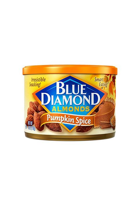 "<p>$5.99 for 6 oz.&nbsp;tin.</p><p><a href=""https://www.amazon.com/Blue-Diamond-Almonds-Pumpkin-Spice/dp/B00OEJQT2G/ref=sr_1_2_a_it?tag=del-module-20"" target=""_blank"" class=""slide-buy--button"" data-tracking-id=""recirc-text-link"">BUY NOW</a><span class=""redactor-invisible-space"" data-verified=""redactor"" data-redactor-tag=""span"" data-redactor-class=""redactor-invisible-space""></span></p>"