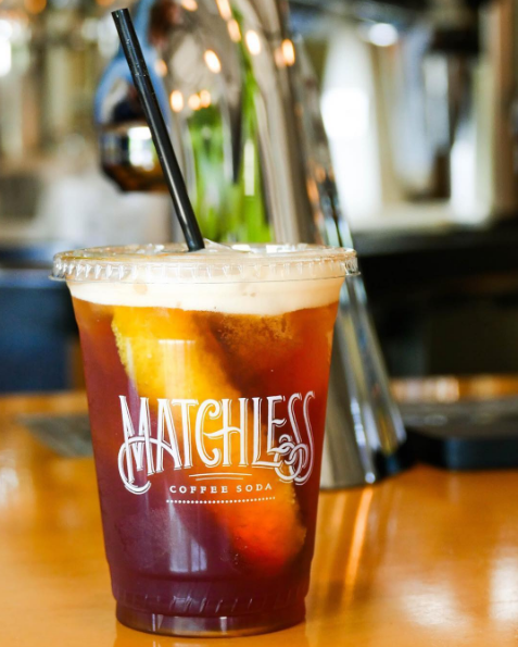 "<p>Brewed in Nashville since 2012, this sparkling iced coffee currently has a <a href=""https://www.kickstarter.com/projects/matchlesscoffeesoda/matchless-coffee-soda-can-drive"" target=""_blank"" data-tracking-id=""recirc-text-link"">KickStarter</a> campaign to turn it into a canned product. For now, you can find <a href=""https://www.matchlesscoffeesoda.com"" target=""_blank"" data-tracking-id=""recirc-text-link"">Matchless</a>&nbsp;coffee soda, with its slightly orange flavor,&nbsp;at cafes and restaurants in the southeast.</p>"