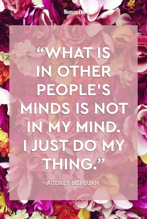 "<p>""What is in other people's minds is not in my mind. I just do my thing."" </p>"