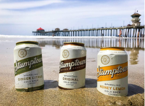 "<p>You can find this Portland-based brand's sparkling cold brew at any of the store's locations, or order it <a href=""https://www.stumptowncoffee.com/products/original-sparkling-cold-brew"" target=""_blank"" data-tracking-id=""recirc-text-link"">online</a>. It comes in Original, Ginger Citrus, and Honey Lemon, and has half the caffeine of Stumptown's original cold brew, so you can easily&nbsp;sip it mid-afternoon or add it to a cocktail.</p>"