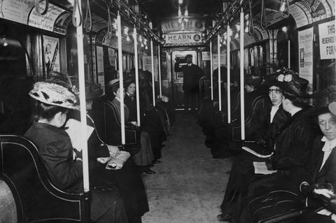 "<p>Even back in 1912, guys were warned against manspreading. An editorial in the <em data-redactor-tag=""em"" data-verified=""redactor"">Chicago</em> <em data-redactor-tag=""em"" data-verified=""redactor"">Sunday Tribune</em> <a href=""http://archives.chicagotribune.com/1912/12/15/page/49/article/strap-hanging-dangerous-for-women/"" target=""_blank"" data-tracking-id=""recirc-text-link"">admonished</a> ""men who allow women to hang on to car straps."" Continued the piece, ""Women do not have the <a href=""http://www.redbookmag.com/body/health-fitness/a47924/upper-body-workout/"" target=""_blank"" data-tracking-id=""recirc-text-link"">strong shoulder muscles</a> that men possess."" Another risk, warned the article, was that the straps could cause ""a frightful strain"" on internal organs.</p>"