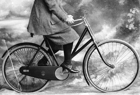 "<p>Two-wheelers also posed a risk for women at the turn of the century. In a list of biking dos and don'ts, <a href=""https://www.brainpickings.org/2012/01/03/donts-for-women-on-bicycles-1895/"" target=""_blank"" data-tracking-id=""recirc-text-link"">published</a> by newspaper <em data-redactor-tag=""em"" data-verified=""redactor"">New York World</em>, the writer fretted that ladies might faint on the road, refuse assistance up a hill, go to church in their bicycle costume or, god forbid, use bicycle slang. As the article instructed, ""Leave that to the boys.""</p>"