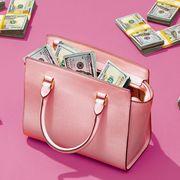 Pink, Bag, Magenta, Shoulder bag, Paper product, Luggage and bags, Material property, Baggage, Games, Paper,