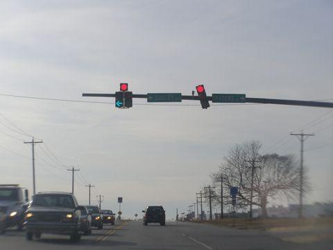 crooked traffic light