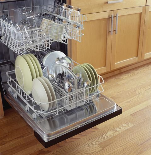 "<p>Stacking dishes or putting too many utensils in your basket could impact your appliance's ability to reach items with soap and water  — meaning <a href=""http://www.goodhousekeeping.com/home/cleaning/tips/a24724/cleaning-wrong/"" target=""_blank"">they won't get clean</a>. Even worse: If you pre-wash your dishes, you might not notice.</p>"